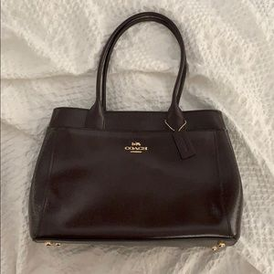 COACH Burgandy/Deep Wine Carryall Handbag 100% Aut